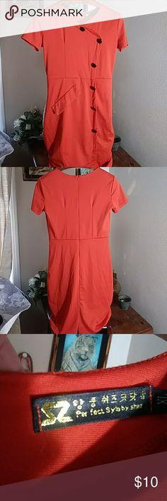 S2 DRESSES💘💘 Short sleeve zip down back midi casual wear S2 Dresses Midi