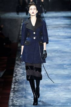 "Train a cue from Marc Jacobs, who took his cue from another legend, this recap will be done completely in Harper's Bazaar's ""Why Don't You"" column.] Why don't you thumb your nose at trends like '70s, '90s and clubby toughness and be inspired by the beautiful grand swans like Babe             MARC JACOBS... Navy.   - HarpersBAZARR"