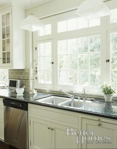 I like the large windows in the kitchen