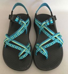450445f4b43c83  112 Chaco Women size 8 Ecothread Multi Strap Sandals Shoes Comfort Walk