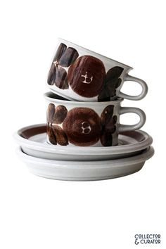 Collector & Curator ~ Products ~ Arabia of Finland Rosmarin Anemone ~ Shopify Dog Bowls, Finland, Products, Gadget