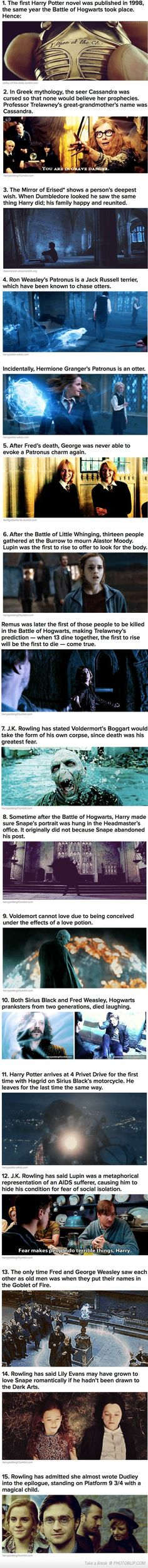 cool Harry Potter facts more funny pics on facebook: https://www.facebook.com/yourfunnypics101 I love these...