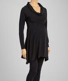 Look at this #zulilyfind! Black Shirred Maternity Tunic #zulilyfinds