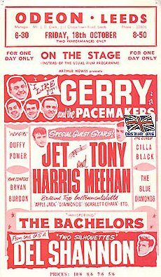Concerts & Package Tours : 1963 (September to October)--Poster at Leeds Odeon 18 October 1963