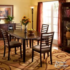 Chace Collection | This 5-piece dining set will feel right at home in your contemporary or transitional dining room.