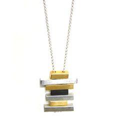 Studio DuArte //  gold & silver bricks necklace