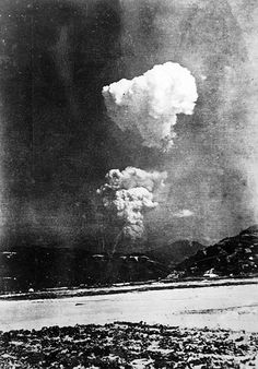 Rare photo found of Hiroshima bomb mushroom cloud    Black-and-white picture of mushroom cloud over Japanese city probably taken some half-hour after the bombing