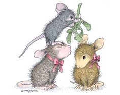 """""""Mistletoe Moment"""" from House-Mouse Designs®  featured on the The Daily Squeek® for December 3rd, 2012. Click on the image to see it on a bunch of really """"Mice"""" products."""