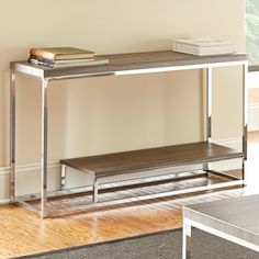 Have to have it. Steve Silver Lucia Sofa Table - Dark Driftwood Gray - $248 @hayneedle