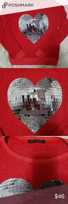 NWT Wildfox heart disco ball top NEW Wildfox heart disco ball top size S.  Cult favorite brand sweatshirt, super soft. Wildfox Tops
