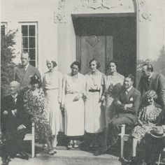 1933: group including the Crown Prince and Princess of Sweden, the Duke and Duchess of Västergötland, the Crown Prince and Princess of Norway, Prince and Princess Axel of Denmark, the Duchess of Brabant, and Princess Ingrid of Sweden.
