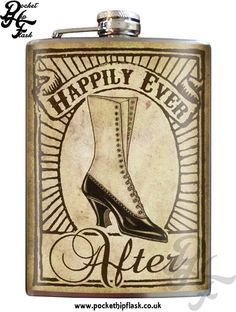 Hip Flask - Happily Ever After Bride - Stainless Steel Flask. Perfect gift for bridesmaids, groomsmen or anyone in the wedding party. Steel Image, Inked Shop, Stainless Steel Bar, Cute Gift Boxes, Bridal Shower Gifts, Happily Ever After, High Gloss, Special Gifts, Best Gifts