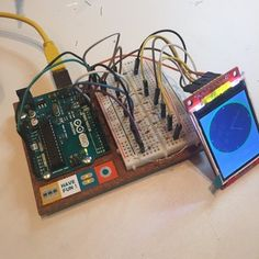 Arduino TFT Display and Font Library Arduino Lcd, Thing 1, Arduino Projects, Circuits, Portable, Cool Gadgets, Printers, Python, Programming