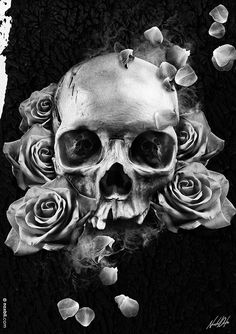 Roses & Skulls by Noxbil , via Behance