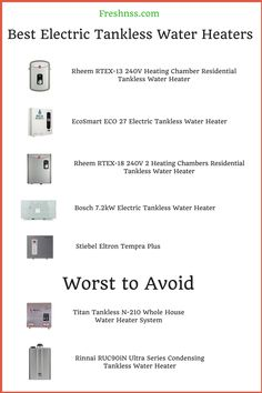 Best Electric Water Heater 2020.28 Best Gas Tankless Water Heaters Images Water
