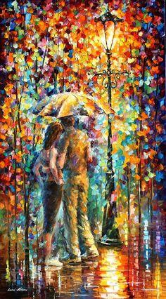 Emotional Fiesta PALETTE KNIF Oil Painting On door AfremovArtStudio