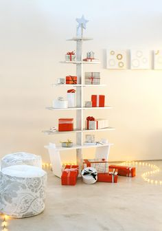 #DIY #Christmas tree with shelves for your gifts