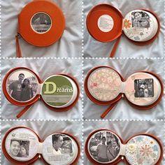 CD Wallet Scrapbook DIY