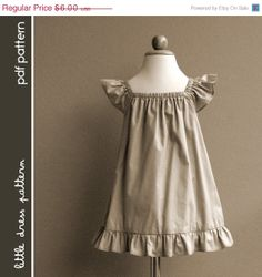 Lauren Dress - PDF Pattern - Size 12 months to 8 years old