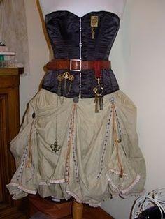 DIY Steampunk Skirt | Found on steamwenchsalon.blogspot.com