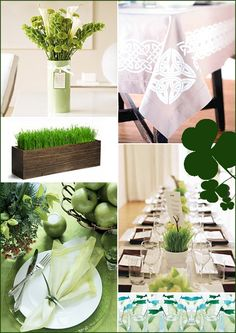 St. Patrick's Day Decoration Party Inspiration, Green, Centerpieces 5