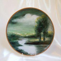 Antique  Limoges ~ Hand Painted Porcelain ~ Delinieres & Co.~  Landscape Scene~Signed