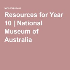 Resources for Year 9 Social Class, Year 9, National Museum, Australia, History, Asia, Modern, Historia, Trendy Tree