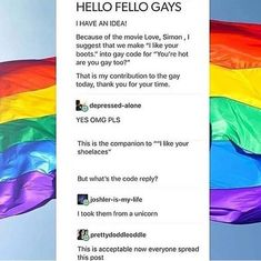 I like your boots gay code Love Simon funny GLBT Lgbt Memes, Funny Memes, Steven Universe, Jacques A Dit, Lgbt Love, Lgbt Community, Faith In Humanity, My Tumblr, My Guy
