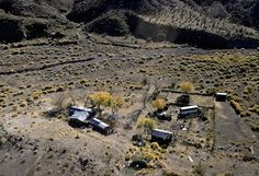 Aerial view of Barker Ranch, where Charles Manson was caught (hiding in a cabinet beneath a sink) in October 1969.