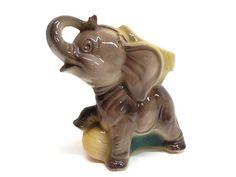 Wonderful Large Circus Elephant Planter by Royal by MyPalPeppy