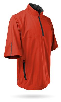 70aa6febf7c Sun Mountain® Rainflex Short Sleeve Pullover - Orange Steel - Golfwear Store