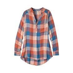 6e96c074b5 Women s Mountain Khakis Josie Tunic - Redwood Plaid Long Sleeve Shirts