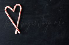 Styled Stock Photography  Candy Cane Heart  by TheGingerSnapsCo