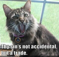 """Thy sin's not accidental, but a trade."" #Shakespeare #Insult #Cats #MeasureForMeasure"