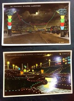 Lovely collection of 1930s Blackpool Illuminations postcards on Etsy, £12.00