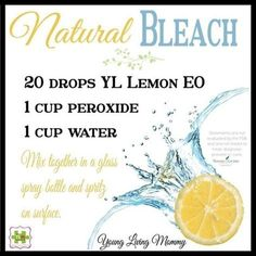 Young Living Essential Oils: Natural Bleach by Hasenfeffer