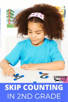 Learn more about teaching skip counting in this grade math unit. There are anchor charts, activities, and other strategies to help students learn how to fluently skip count by various numbers within Skip Counting Activities, Skip Counting By 2, Graphing Activities, Teaching Second Grade, Second Grade Math, Teaching Place Values, Types Of Learners, Math Writing, Common Core Math Standards