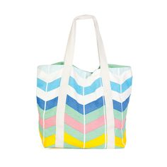 Chevron Stripes Oversized Tote | dotandbo.com