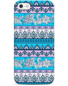 Фиолетово-голубой узор - iPhone 5 / 5S / 5C Дизайнерские чехлы для iPhone #Sahar cases #чехлы для iPhone