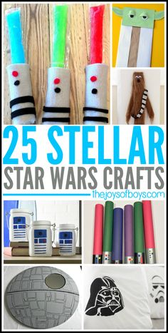 Love Star Wars? If so, you will you'll definitely love these 25 Stellar Star Wars Crafts! They're definitely out-of-this-world!