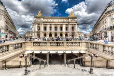 Opera Garnier from the metro station exit.