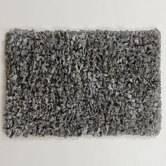 One of my favorite discoveries at WorldMarket.com: 20' x 30' Frost Grey Jersey Shag Bath Mat