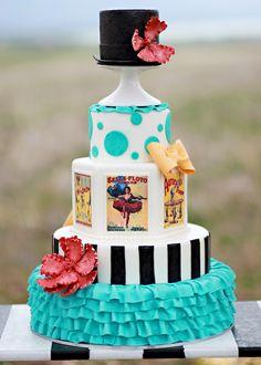 Circus Cake - I like the ruffles on the bottom layer!