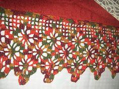 Filet Crochet, Crochet Doilies, Love Crochet, Knit Crochet, Knitting Stitches, Valance, Holiday Decor, Pattern, Crafts