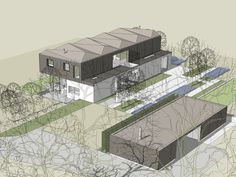Sussex Timber House, Modern Architecture, Fountain, Houses, House Design, Container Homes, Building, Awards, Travel