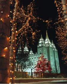 The Christmas lights at Temple Square in Salt Lake City. A free, family friendly event, with hot chocolate usually available for sale.
