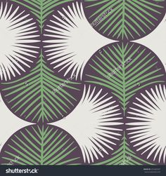 Vector seamless tropical plants pattern