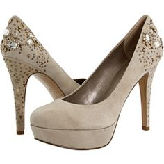 Between the studded heel and nude color I am absolutely smitten with these Nine West heels! $119 #Zappos.com