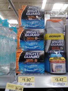 Right Guard Bar Soap 2pks Just $.97 At Walmart!