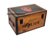 Handcrafted in America. Personalize our Police Keepsake Boxes with your badge or department patch.